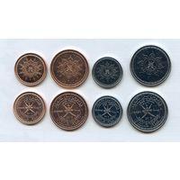 Оман НАБОР 4 монеты 2015 UNC НОВЫЙ ТИП