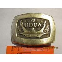 """Польская пряжка""""ODRA"""" (Одер),с якорем.Латунь."""