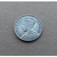 Новая Зеландия, шиллинг 1933 г., серебро, Георг V (1910-1936)