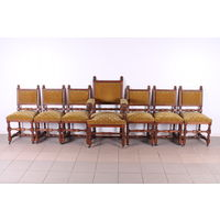 Комплект 6 стульев и кресло.Антиквариат.Art-884.