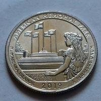 25 центов, квотер США, мемориальный парк Северные Марианские острова, P  D