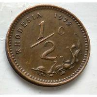 Родезия 1/2 центa, 1972 1-1-24