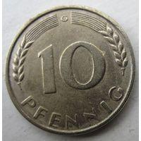 Германия. 10 пфеннигов 1950 G  .103