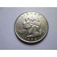 25 центов, США 1996 P