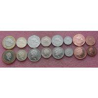 """Гибралтар. набор из  8 монет 1, 2, 5, 10, 20, 50 пенсов 1,2 фунта  2018 год  """"Новый дом Гибралтара в Лондоне (Сalpe House)"""""""