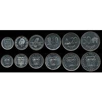 Эквадор набор 6 монет 1988-1991