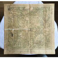 Карта Schlusselburg (Шлиссельбург Ленинградская область) 1915 год