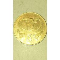 Кипр 5 центов 2001