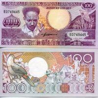 Суринам  100 гульденов  1986 год   UNC