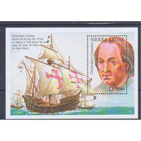 [2046] Сьерра-Леоне 1993. Корабли,парусники.Колумб. БЛОК.