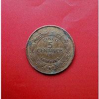 96-12 Гондурас, 5 сентаво 2002 г. !!Нечастая!! Единственное предложение монеты данного года на АУ