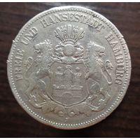 Германия (Гамбург), 5 марок 1875 год. (J)