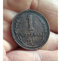 1 копейка 1924 г Штемпель 1.2 Сохран