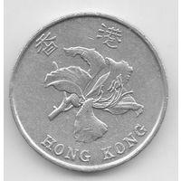 Специальный Административный Район Гонконг. 5 ДОЛЛАРОВ 1993. ЦВЕТОК. ОЧЕНЬ ТОЛСТАЯ.