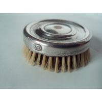Винтажная косметическая щетка,латунь,серебрение,клеймо.Конец XIX-го века.