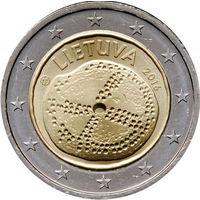 2 Евро Литва 2016  Балтийская культура UNC из ролла