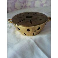Латунная горелка с крышкой 7х14 см