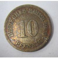 Германия. 10 пфеннигов 1900 F .  1-36