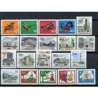 Берлин - 1965г. - Полный годовой набор - MNH, 8 марок с дефектами клея, одна без клея - 20 марок