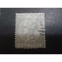 Ямайка, колония Англии 1885 королева Виктория 1/2 пенни