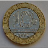 Франция, 10 франков 1992 г.