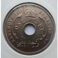 """Британская Западная Африка 1 пенни 1936 """"Эдуард VIII"""""""