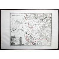 Карта Великого Княжества Литовского, 1789 - 1791 гг., Австрия. Лист #50 (юго-запад) из атласа Франца фон Райли (Австрия), Оригинал XVIII в.