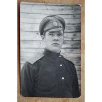 Фото солдата царской армии. 1917 г. 9х14 см.