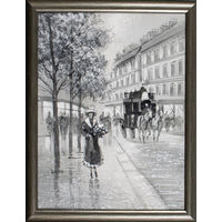 """Картина """"Франция"""" в раме (30*40см)"""