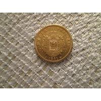 20 франков,  Франция ,  Наполеон  3 , 1861 г.