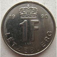 Люксембург 1 франк 1990 г. (g)