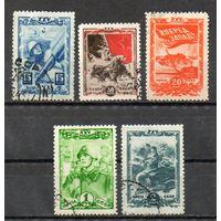 25 лет ВЛКСМ СССР 1943 год серия из 5 марок
