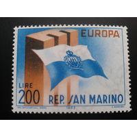 Сан-Марино 1963 Европа флаг республики полная
