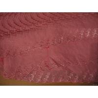 Очень красивый розовый отрез ткани с вышивкой 1.90х1.10