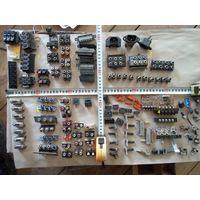 Ассорти 5коп-1руб.. разъемы клеммники потенциометры, КЦ106, диодные мосты