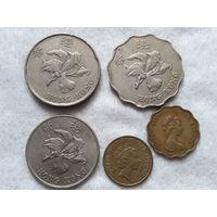 Гонконг. Набор из 5 монет. (1980, 1990, 1993, 1994, 1997)год.