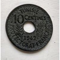 Тунис 10 сантимов, 1942  3-4-12