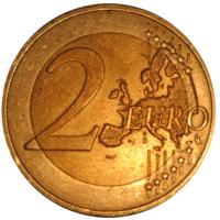 2 евро, Австрия, 2012г. 10 лет евро