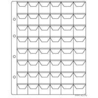 Лист для хранения монет  200х250 мм на 48 ячеек размером 30х30 мм с клапанами