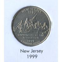 25 центов США 1999 г. штат Нью-Джерси D