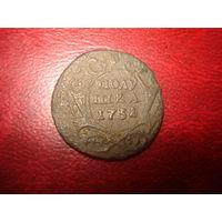 Полушка 1731 медь (перегравировка даты с 1730)