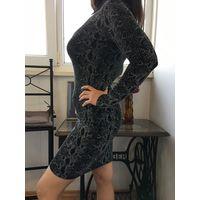 Платье коктейльное 44-46 марк.10 принт под змеиную кожу НОВОЕ