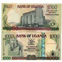 Уганда 1000 шиллингов образца 2009 года UNC p43d