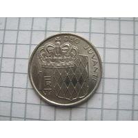 Монако 1 франк 1976г.