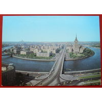 Москва. Вид на Кутузовский проспект. Чистая. 1979 года. 739.
