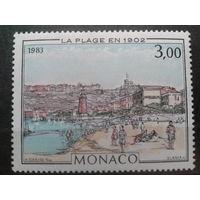 Монако 1983 Монте Карло в 1902 г., живопись** Михель-3,0 евро