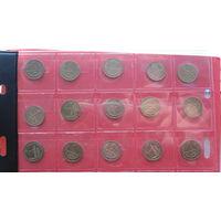 Сборка 1,2,3 копеек 1961-1991 м,л  - все года