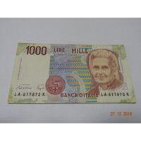 Италия, 1000 лир, 1990 год