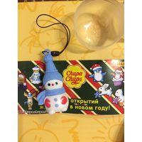 Снеговичок Елочная игрушка из Чупа-чупс