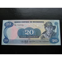 НИКАРАГУА 20 КОРДОБА 1985 ГОД UNC